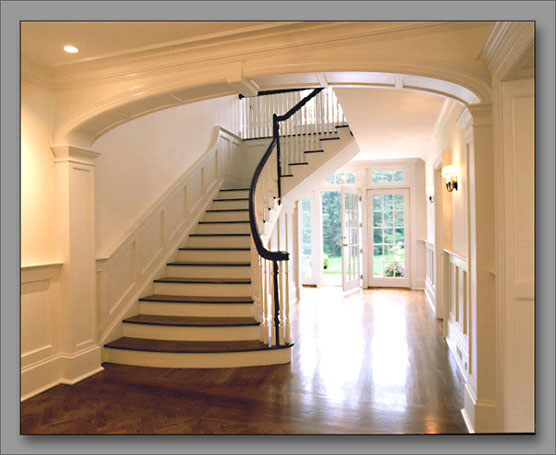View of stair hall from entry vestibule.