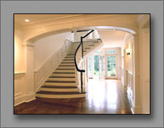View of stair hall from vestible.
